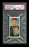 Psa 9 Boris Karloff 1938 Ogden Cigarette Card Universal Monster Film The Mummy