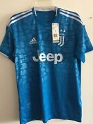 Adidas Juventus 3rd Kit 2019-20 Unity Blue White Soccer Jersey Size S Menandrsquos Only