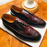 New With Box | Florsheim Imperial 93605 4 Shell Cordovan Wingtip Size 9.5d