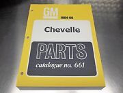 Chevelle Master Parts Catalog 64 - 66 March 66 Printing