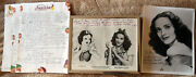 Adriana Caselotti Voice Of Snow White Original Hand Signed Photos And Papers