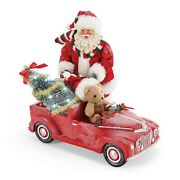Possible Dreams Santa Red Pedal Truck-nib Never Removed From Box Lights Up