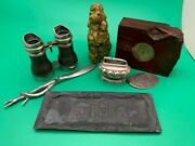1800andrsquos Mixed Errs Antique Buried- Items Cleaned -andnbsp Great Junk Drawer Lot