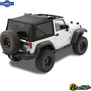 97-06 Wrangler Tj And 07-16 Wrangler Jk Replace-a-top Black Twill For Oem Hardware
