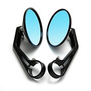 Motorcycle Rear View Mirror Black 7/8 Round Cnc Cafe Racer Parts Motorcycle