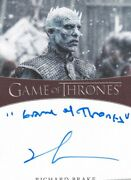 Game Of Thrones S8 Inscription Autograph Card Signed By Richard Brake  6