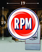 19 X 19 Rpm Motor Oil Shield Gas Vinyl Decal Lubester Oil Pump Can Lubster