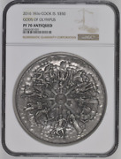 2016 Kilo Silver Cook Island 50 Gods Of Olympus Ngc Pf70 Antiqued Mintage 199