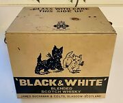 Vintage Black And White Scotch Whiskey Barking Dogs Electronic Store Display