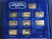 1974 Mount Everest Mint The Great Locomotives Lot Of 9 Silver Art Bars E6215