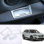 For Bmw X1 2016-2020 F48 Abs Silver Inner Rear Door Ashtray Panel Cover Trim 4pc