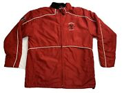 Fireball Whiskey Jacket Size L Warrior Lacrosse Super Rare Red Lined Full Zip