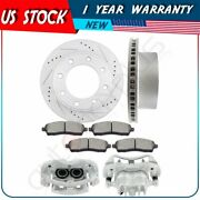 Rear Brake Rotors Calipers With Ceramic Pad For 1999-2004 Ford F-250 Super Duty