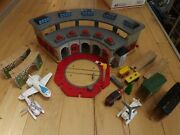 Thomas The Train Tidmouth Engine Shed Wooden Roundhouse Station + Extras