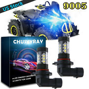 Ice Blue 9005 Hb3 Led Headlight Bulb 8000k Bl For Can-am Renegade 800r 2009-2015