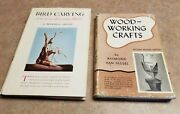 2 Vintage Woodcarving Books Bird Carving By Gilley And 1947 Crafts By Van Tassel