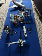 Huge Lot Lego City Incomplete Police Fire Station Airplane Helicopter Limo