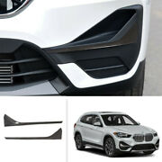 For Bmw X1 2020 F48 Carbon Fiber Front Fog Light Lamp Strip Cover Trim 2pcs