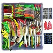 275pcs Fishing Lures Set Tackle Including Crankbaits, Spinnerbaits, Plastic Hook