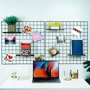 Metal Wire Wall Grid Panels 2pack 23.6andrdquox23.6andrdquo Multifunction Photo