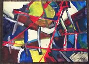 Klever Signed Russian Non Conformist Abstract Painting 1979 30x22