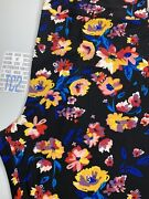 New Release Lularoe Tc2 Leggings Gorgeous Black Yellow And Blue Floral