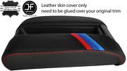 Red Stitch M Stripe Sliding Phone Armrest Leather Cover For Bmw 5 E39 96-03