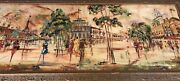 Mid Century French School Of Paris Oil Painting Dufy Style Urban Street 22 X 52