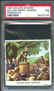 1954 Golden Stamps William Henry Harrison 9th United States President Psa 7 Nm