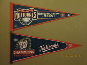 Mlb Washington Nationals 2005 Inaugural Season 2019 World Series Champs Pennants