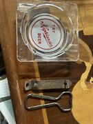 Highlander Beer Brewing Co. Vintage Advertising Glass Ashtray And Bottle Openers