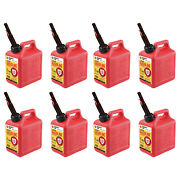 Midwest Can Company 1210 1 Gallon Gas Can Fuel Container Jugs W/ Spout 8 Pack