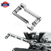 Chrome Heel Toe Gear Shifter Shift Lever Pedal Peg Fit For Harley Touring 88-20