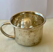 Vintage Towle Sterling Silver Small Baby Bunny Engraved Cup 34.1 Grams