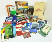 Huge Lot Of 1960s-88s Mostly Europe Travel Maps Brochures Hotel Guides Tour Info
