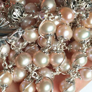 Bali Sterling Silver Bead Andaaa+8mm Real Pearl Catholic Rosary Necklace Cross Box