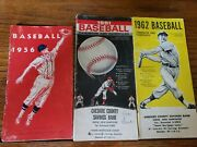 Vintage 1956, 1961, And 1962 Baseball Handbook And Schedules