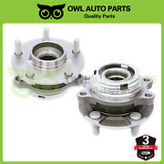 Pair Front Lh Or Rh Wheel Bearing Hub 5 Lug For Nissan Murano Quest W/abs 513338