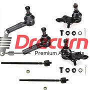 6pc Front Lower Ball Joints Inner And Outer Tie Rod Set For Toyota Tercel Paseo