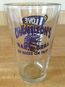 Chameleon's Bar And Grill Pint Beer Glass I Love You Man Bud Light 50 Beers On Tap
