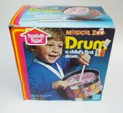 Romper Room Musical Zoo Drum A Child's First Drum Hasbro 1979 Sealed Vintage