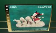 Disney Porcelain Snowbabies Guest Collection Magical Sleigh Ride Mickey Dept 56