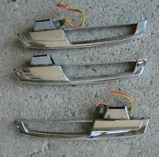 1965 Chrysler Imperial Int Door Pull Handle Chrome Lot Of 3 Used Orig 65