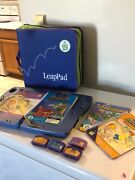 Leap Frog Leap Pad Learning System 4 Books 4 Cartridges And Carrying Case 4 Pens