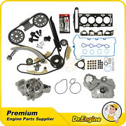 Head Gasket Set Timing Chain Kit Oil Water Pump Bolts Set Fit 07-08 Chevrolet