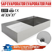 Maple Syrup Evaporator Pan Stainless Steel 24x48 Boiling Pan Tig Welded Brushed