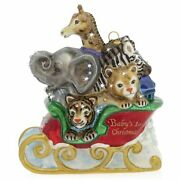 Jay Strongwater Babyand039s First Christmas Glass Ornament Sdh2329-250 Brand Nib F/s