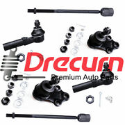 6pc Front Tie Rod Ball Joint Kit For 1993-2002 Mercury Villager And Nissan Quest