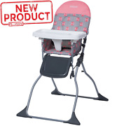 Full Size Baby High Chair Seat Foldable Adjustable Tray Child Feeding Girl Pink