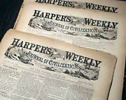 Lot Of 9 Harperand039s Weekly Pre Civil War Illustrations Prints 1859 Ny Newspapers